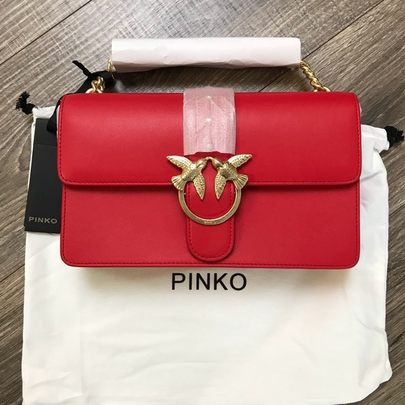 Shoulder Bag for Women On Sale, Red, Leather, 2017, one size Pinko